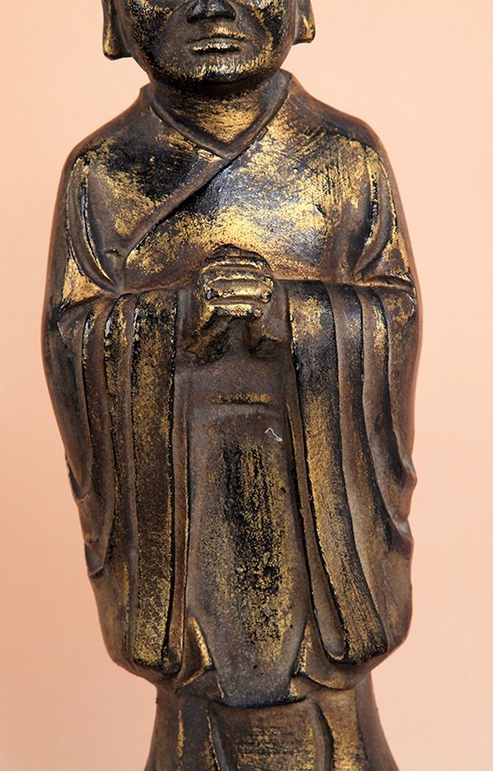 TALL GILT BRONZE BUDDHA FIGURE - 6