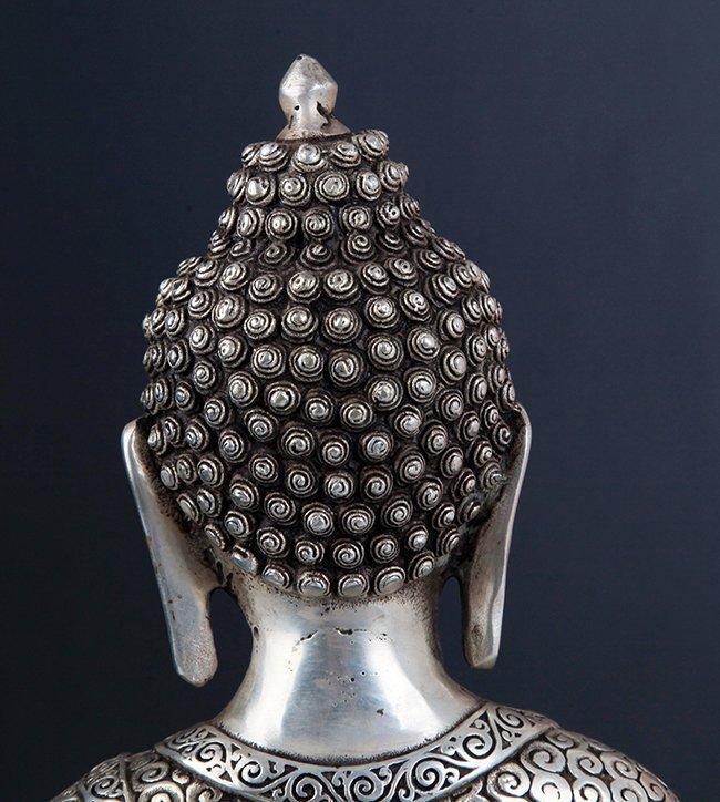 LARGE BRONZE TIBETAN BUDDHA - 10