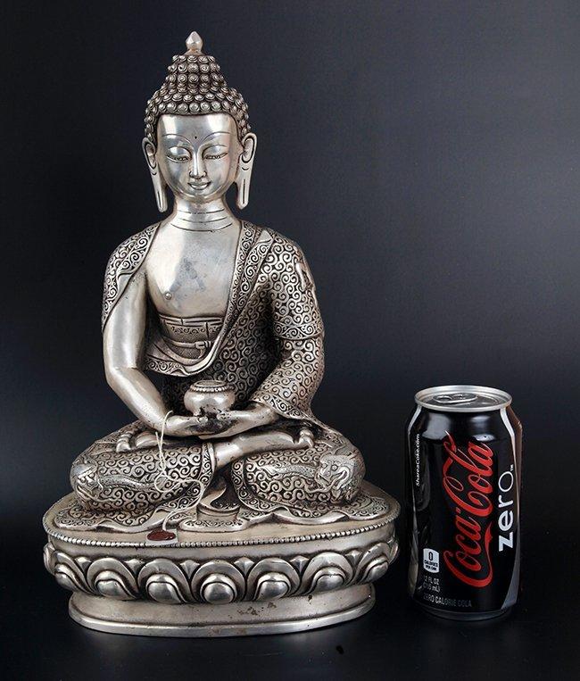 LARGE BRONZE TIBETAN BUDDHA
