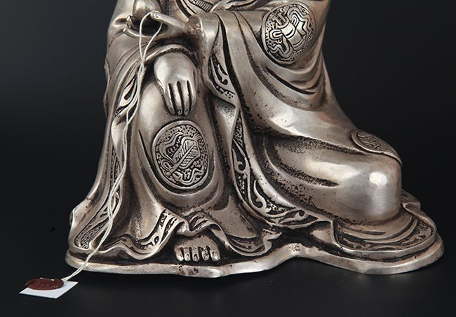 A FINELY CARVED GUAN YIN SHAPE BRONZE BUDDHA - 4