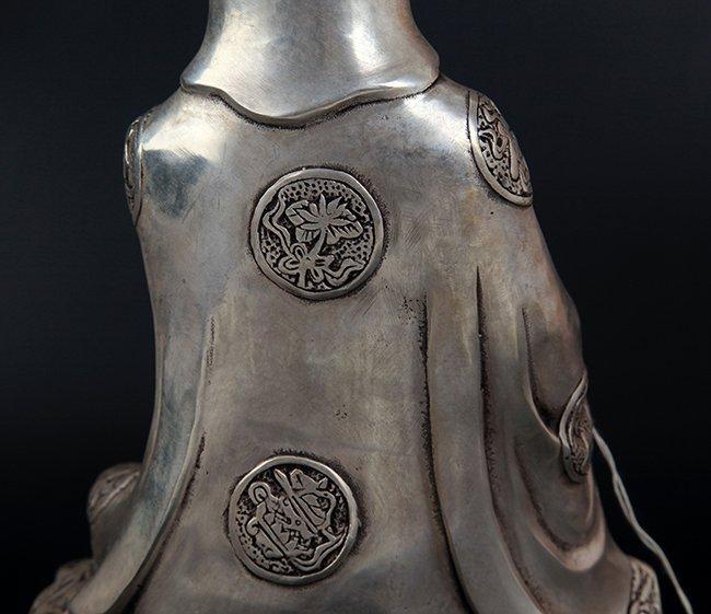 A FINELY CARVED GUAN YIN SHAPE BRONZE BUDDHA - 8