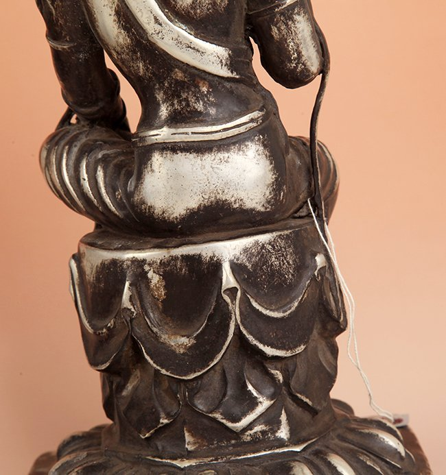 A TALL AND FINELY CARVED BUDDHA FIGURE - 2