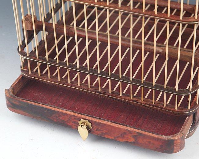 PAIR OF HUANG HULI MU BIRD CAGE - 5