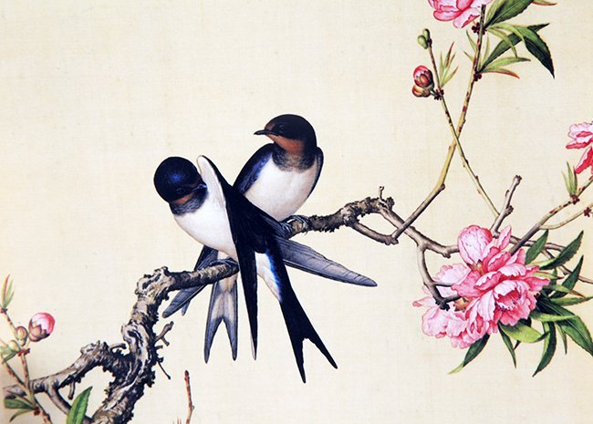 A COPY OF CHINESE PAINTING ON SILK - 3