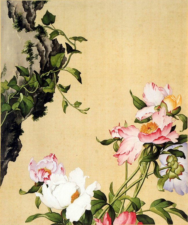 A COPY OF CHINESE PAINTING ON SILK