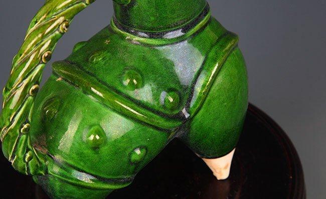 A GREEN COLOR GLAZED PORCELAIN WATER JAR - 7