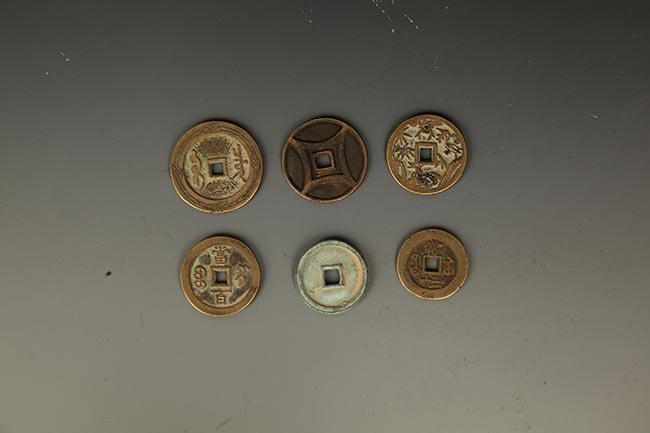 GROUP OF SIX OLD CHINESE COIN - 2