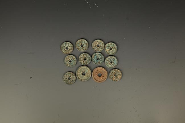 GROUP OF 12 OLD CHINESE COIN - 2