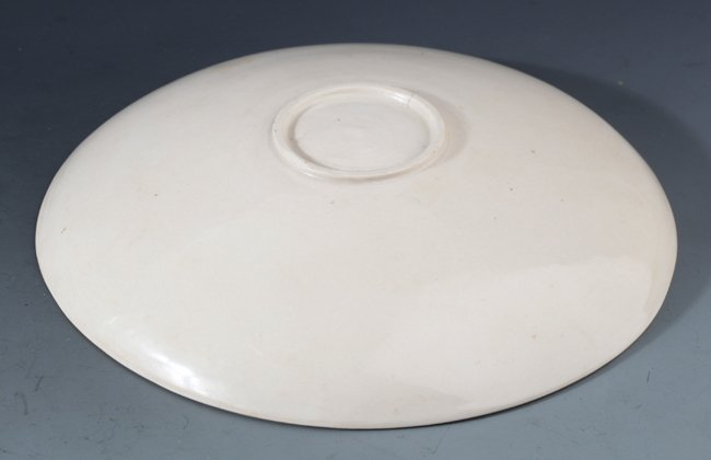 "A RARE AND FINELY CARVED PORCELAIN PLATE, ""DING YAO"" - 4"