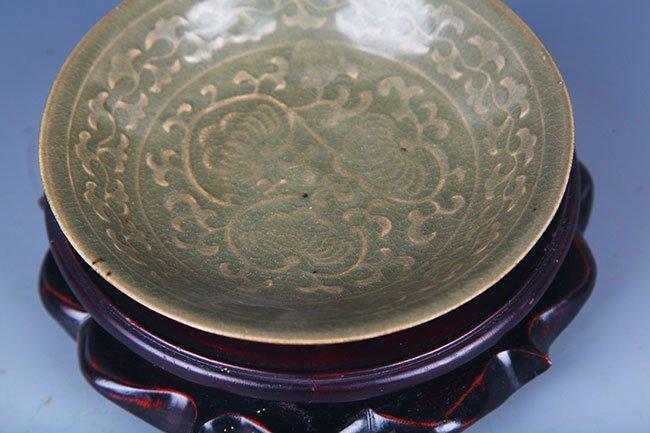 A YAO ZHOU YAO FLOWER PATTERN PORCELAIN PLATE - 4