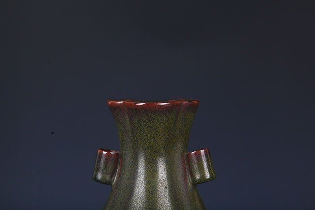 A TEA COLOR GLAZED PORCELAIN JAR - 2