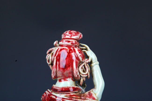 "GLAZE RED ""YOU LI HONG"" XI SHI FIGURE - 7"