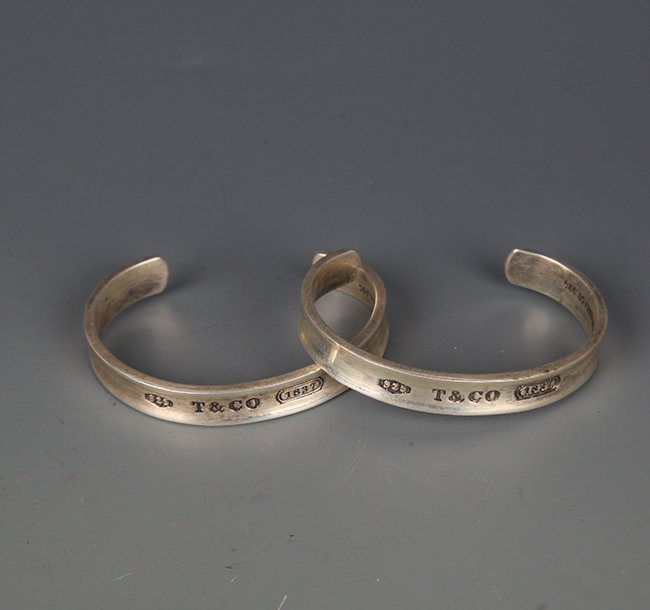 PAIR OF OLD SILVER PLATED BRACELETS