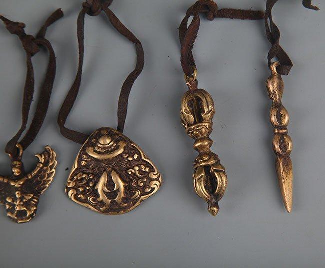 GROUP OF FIVE TIBETAN BUDDHISM VAJRA - 2