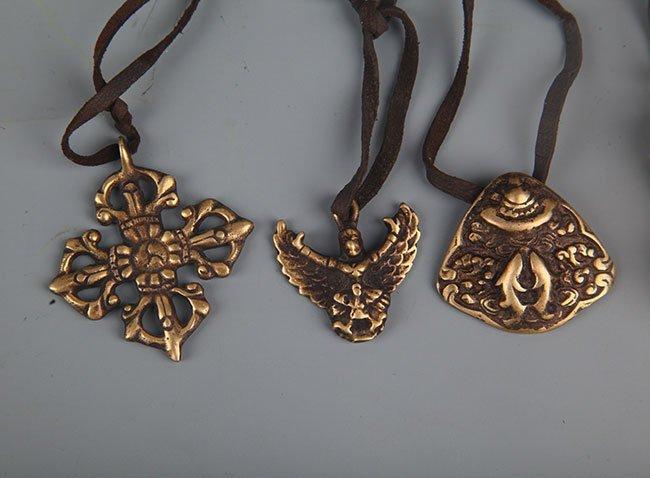 GROUP OF FIVE TIBETAN BUDDHISM VAJRA - 3
