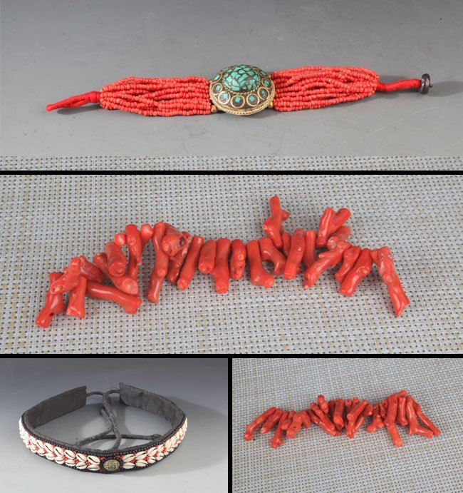 GROUP OF FOUR CHINESE NECKLACE