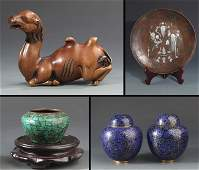 GROUP OF FOUR ANTIQUE CHINESE DECORATION