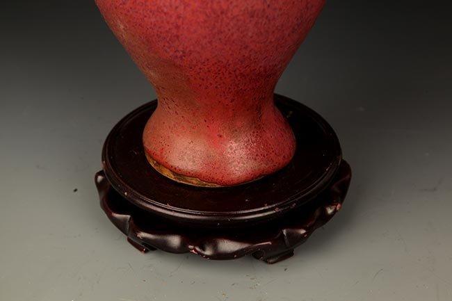 """A FINE RED """"JUN"""" COLOR GLAZED PORCELAIN JAR - 4"""