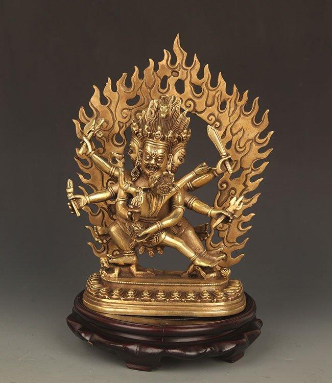 A FINE TIBETAN VAJRAKILAYA BUDDHA