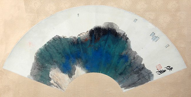 A FINE CHINESE FAN PAINTING, ATTRIBUTED TO