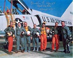 14: Wendt signed photo Mercury 7 astronauts