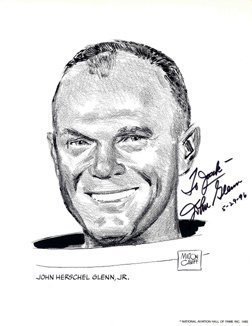 "74Y: John Glenn Mercury 6 Autograph Inscribed ""To Jack"""