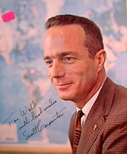 "103Y: Scott Carpenter Mercury 7 Signed Photo ""To Walt"""