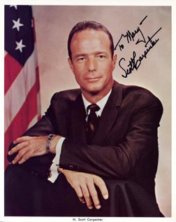"104Y: Scott Carpenter Mercury 7 Signed Photo  ""To Mary"""