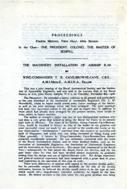 "7000: 1929, ""Machinery Installation of Airship R101"""
