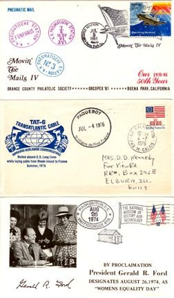 7102:  Airmail Commemorative Cover + 2 More