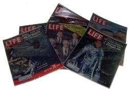 7206: 1958//1963, Lot of 6 Life Magazines on Mercury As