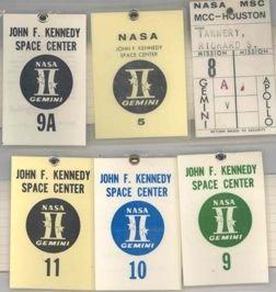 7400A: Lot of 6 Gemini Program NASA MSC Access Badges