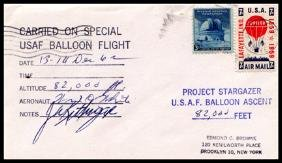 "8: 1962, Flown ""Project Stargazer"" Cover"