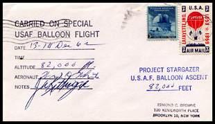 "1962, Flown ""Project Stargazer"" Cover"