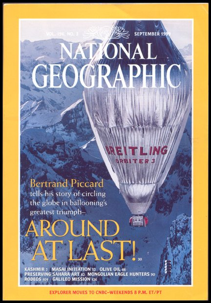 18: Natl Geo Mag: Piccard's Balloon Flight
