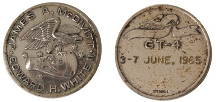 126: Gemini 4 Flown Silver Medallion