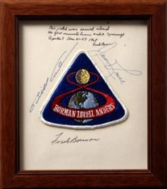 272A: FLOWN Apollo 8 Crew Patch