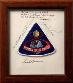 272A: FLOWN Apollo 8 Crew Patch