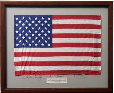 393: FLOWN Apollo 12 U.S. Silk Flag