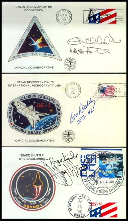 591: 42 Autographed Shuttle Covers