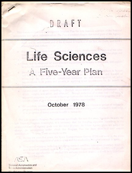 598: Shuttle  Life Sciences Five Year Plan