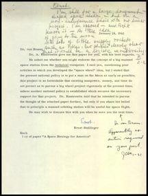 790: Dr. Wernher von Braun Autograph