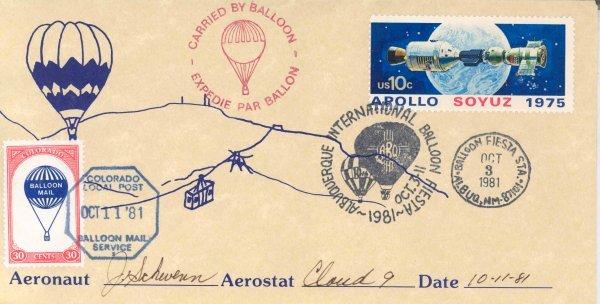 """26: A Flown """"International Balloon Fiesta"""" Cover"""