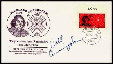 8: Walt Cunningham Autograph on a Copernicus