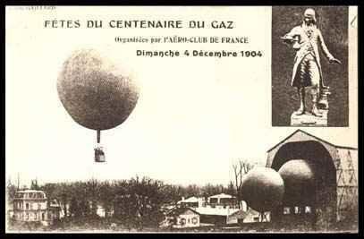 15: 1904  Gaz Balloon Flight Picture Postcard