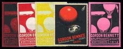 16: Gordon Bennett Balloon Race Vignette Labe