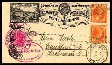 18: 1927, Luxembourg Balloon Flight Cards