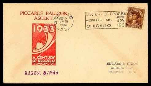 """21: 1933 """"Piccard's Balloon Ascent"""""""