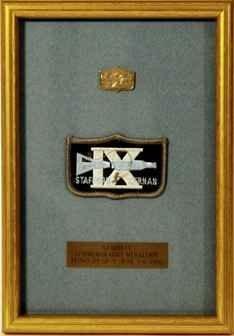 206:Flown  Gemini 9 Sterling Silver Medallion