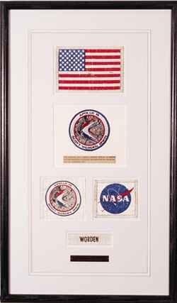 535: Al Worden's Nametag Flag Patch NASA Logo